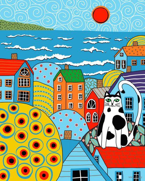 """Картина по номерам """"Карла Жерар. Кот и крыши"""" (400х500 мм) — фото, картинка"""