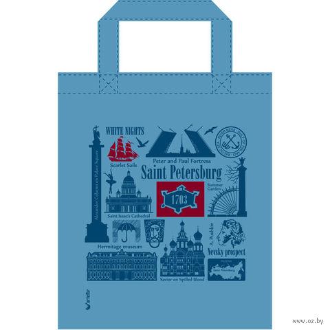 "Сумка ""Санкт-Петербург"" (34x41 см; голубая) — фото, картинка"