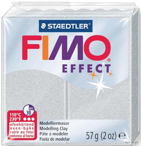 """Глина полимерная """"FIMO Effect"""" (светло-серебристый перламутр; 57 г) — фото, картинка"""