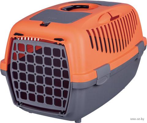 "Переноска для животных ""Traveller Capri II"" (37х34х55 см; серо-оранжевая) — фото, картинка"