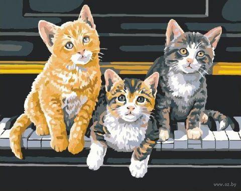 """Картина по номерам """"Котята на рояле"""" (400x500 мм; арт. MG252) — фото, картинка"""