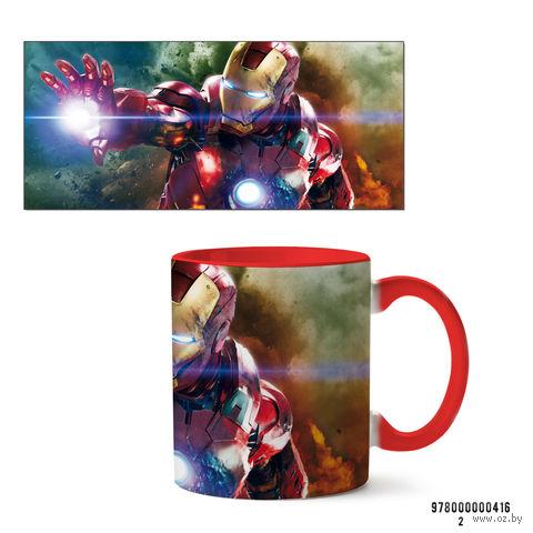 """Кружка """"Железный человек из вселенной MARVEL"""" (416, красная)"""