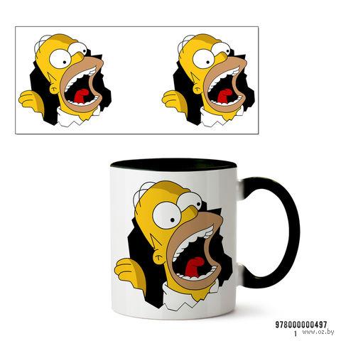 "Кружка ""Симпсоны"" (черная; арт. 497) — фото, картинка"