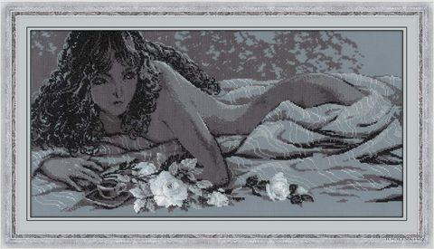 """Вышивка крестом """"Серебряный сон"""" (600x300 мм) — фото, картинка"""