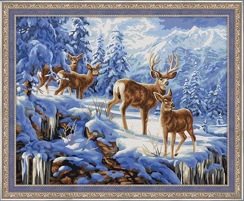 """Картина по номерам """"Благородные олени"""" (400х500 мм) — фото, картинка"""
