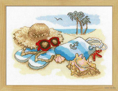 """Вышивка крестом """"Отдых на море"""" (240х180 мм) — фото, картинка"""