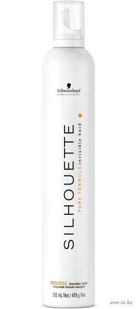 """Мусс для укладки волос """"Silhouette"""" эластичной фиксации (500 мл) — фото, картинка"""