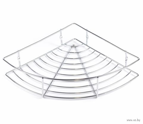 Полка для ванной угловая металлическая (240х240 мм)
