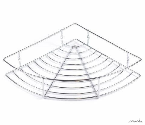 Полка для ванной угловая металлическая (24х24 см)