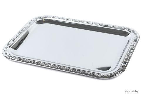 Поднос металлический прямоугольный (31,5*23,3 см, арт. 4120020)
