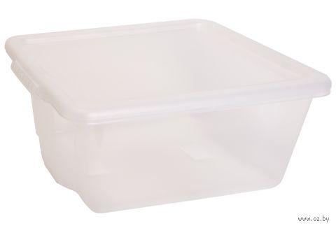 """Ящик для хранения с крышкой """"Porter"""" (14 л; прозрачная) — фото, картинка"""