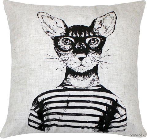 """Подушка """"Кот"""" (40x40 см; арт. 07-876) — фото, картинка"""