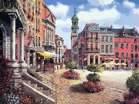 "Картина по номерам ""Шарлеруа. Бельгия"" (400х500 мм) — фото, картинка"