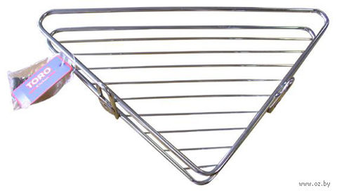 Полка для ванной угловая металлическая (125x195 мм) — фото, картинка