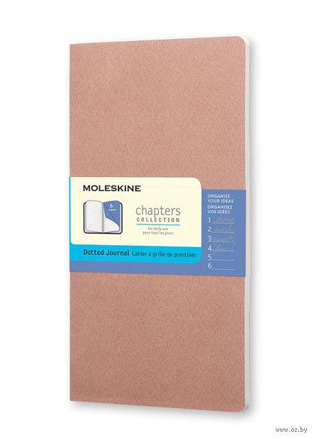 """Записная книжка Молескин """"Chapter"""" в точку (средняя; мягкая бежевая обложка)"""