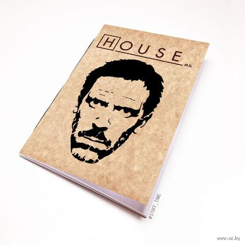 """Блокнот крафт """"Доктор Хаус"""" (А7; арт. 092)"""