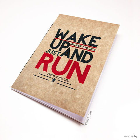 "Блокнот крафт ""Wake up and run"" А6 (394)"