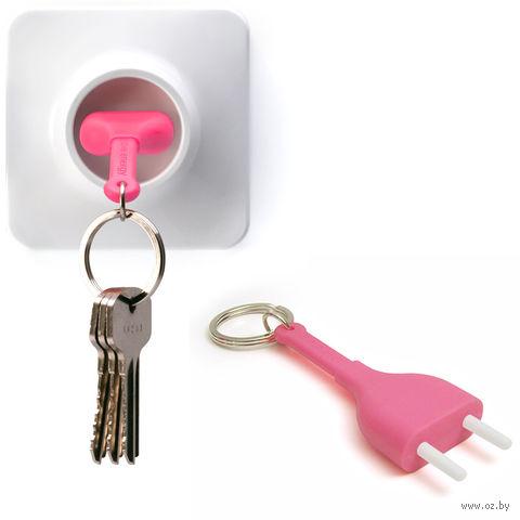 """Брелок и держатель для ключа """"Unplug"""" (розовый)"""