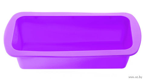 Форма для выпекания силиконовая (270x135x60 мм; фиолетовый) — фото, картинка