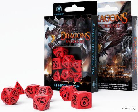 """Набор кубиков """"Dragon"""" (7 шт.; красно-черный) — фото, картинка"""