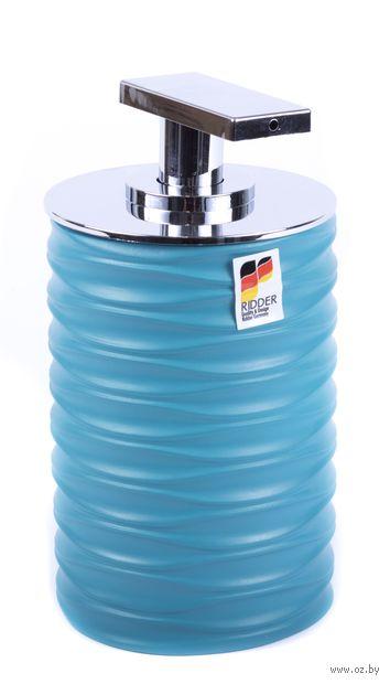 """Дозатор для жидкого мыла """"Swing Turquoise"""" (75х75х140 мм) — фото, картинка"""