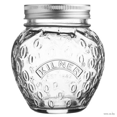 """Банка для продуктов стеклянная """"Клубника"""" (400 мл) — фото, картинка"""
