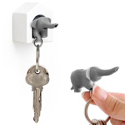 """Брелок-свисток и держатель для ключей """"Elephant"""" (серый)"""