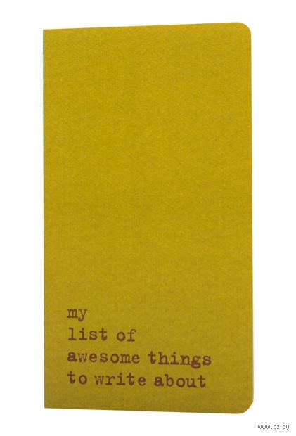 "Записная книжка Молескин ""Chapter. My List of Awesome Things"" в линейку (115х210 мм; зеленая)"