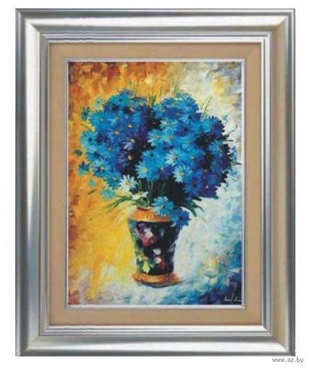 "Алмазная вышивка-мозаика ""Синий букет"" (500х700 мм) — фото, картинка"