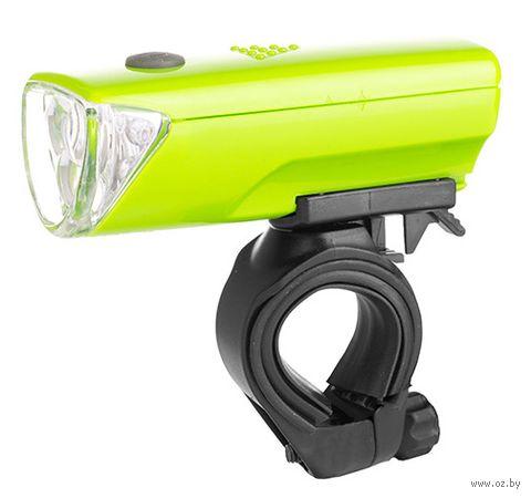 """Фонарь передний для велосипеда """"HW 160123A-A"""" (зелёный) — фото, картинка"""