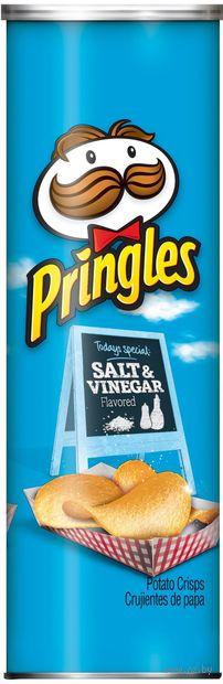 """Чипсы картофельные """"Pringles. Соль и винный уксус"""" (158 г) — фото, картинка"""