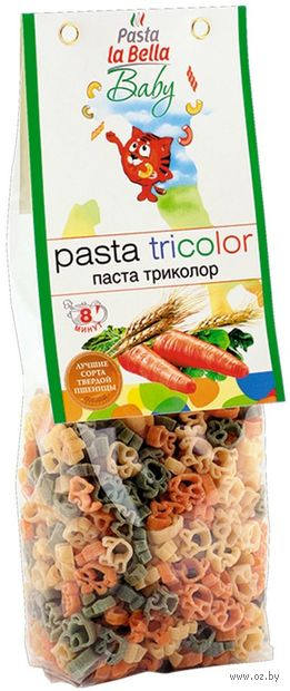 "Паста ""Pasta la Bella. Baby. Триколор"" (250 г) — фото, картинка"