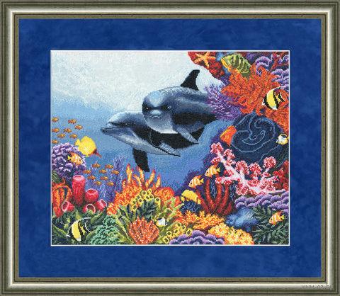 "Вышивка крестом ""Коралловый сад"" (296х362 мм) — фото, картинка"