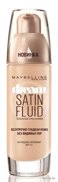 """Тональный крем-флюид для лица """"Dream Satin Fluid"""" SPF 13 (тон: 30, медово-бежевый) — фото, картинка"""