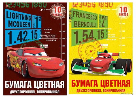 """Бумага цветная """"Cars"""" (12 листов; 12 цветов)"""