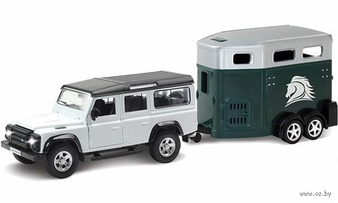 "Модель машины ""Land Rover Defender с прицепом"" (масштаб: 1/32)"