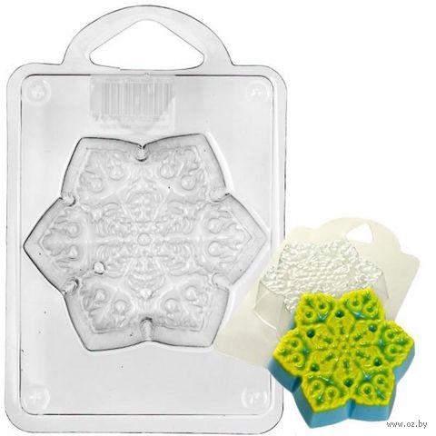 """Форма для изготовления мыла """"Снежинка новогодняя"""" — фото, картинка"""