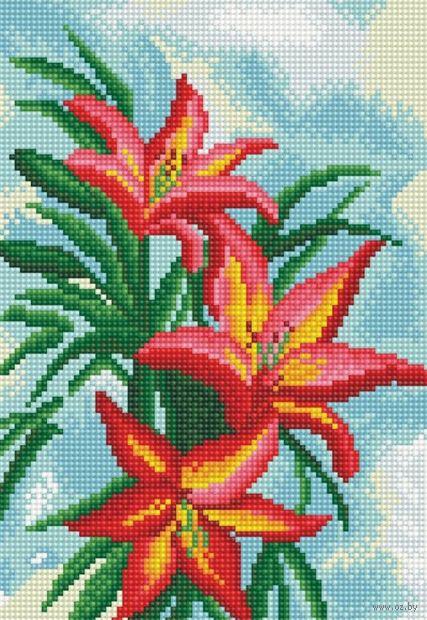 """Алмазная вышивка-мозаика """"Американская лилия"""" (200х300 мм) — фото, картинка"""