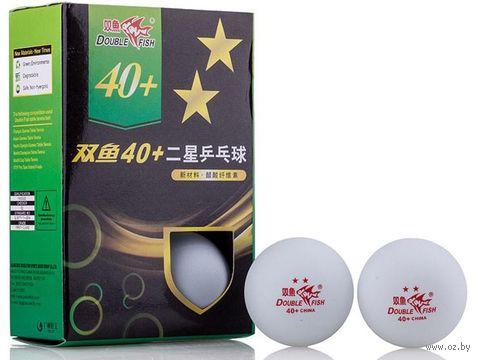 Мячи для настольного тенниса (6 шт.; 2 звезды; белые) — фото, картинка