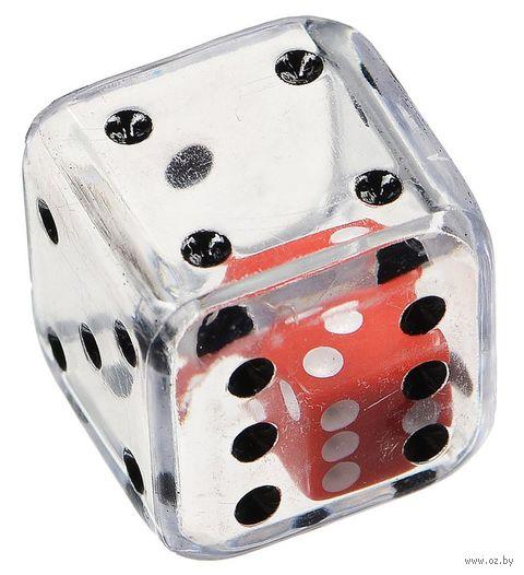 "Кубик D6 ""Кубик в кубике"" (19 мм; прозрачный) — фото, картинка"