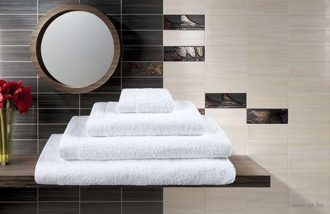 Полотенце махровое (50x100 см; белое) — фото, картинка