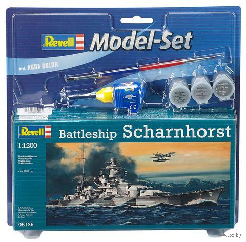 """Сборная модель """"Немецкий линкор Scharnhorst"""" (масштаб: 1/1200) — фото, картинка"""