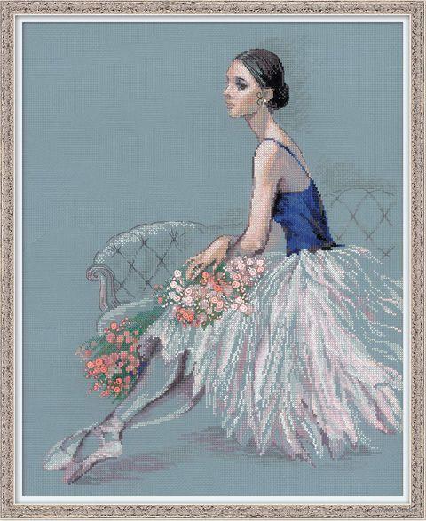 """Вышивка крестом """"Балерина"""" (400x500 мм) — фото, картинка"""