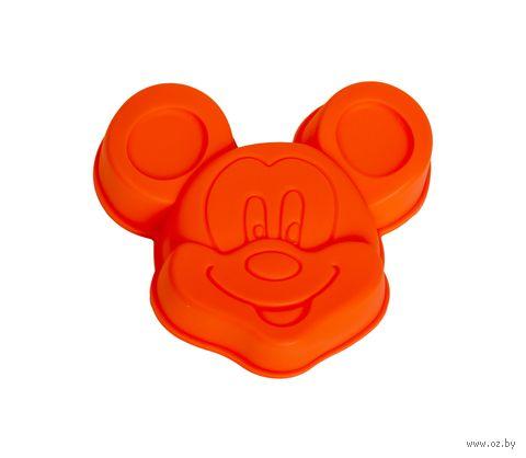 """Форма для выпекания силиконовая """"Микки"""" (140х130x30 мм; красная) — фото, картинка"""