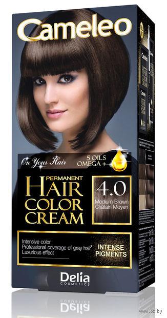 """Крем-краска для волос """"Cameleo"""" (тон: 4.0, средний коричневый) — фото, картинка"""