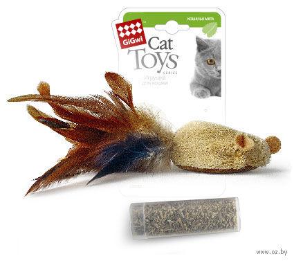 """Игрушка для кошек """"Мышка"""" с кошачьей мятой (7 см)"""