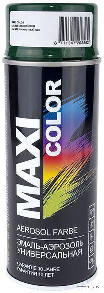"""Эмаль аэрозольная """"Maxi Color"""" (темно-зеленая) — фото, картинка"""