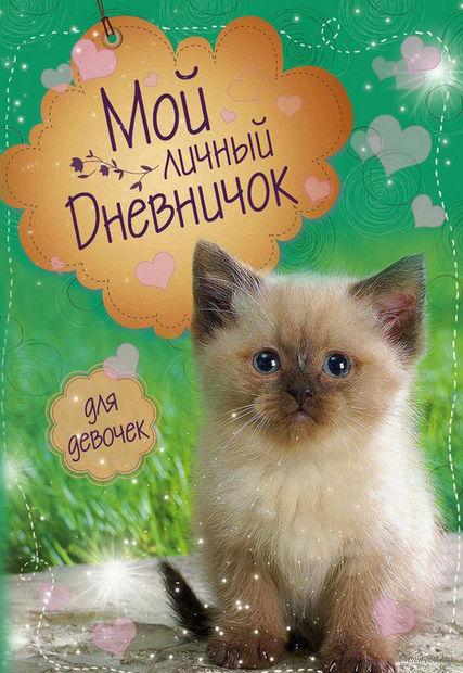 """Мой личный дневничок """"Котик на зеленой обложке"""" — фото, картинка"""