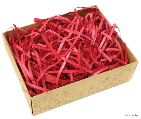 Стружка бумажная (красный перламутр; 100 г) — фото, картинка