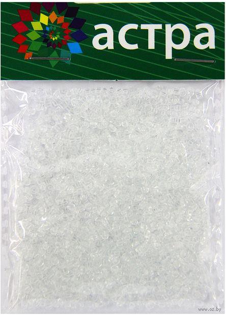 Бисер прозрачный №1 (белый; 11/0) — фото, картинка